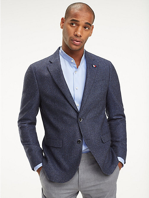 TOMMY HILFIGER Wool Blend Slim Fit Blazer - 425 - TOMMY HILFIGER Coats & Jackets - main image