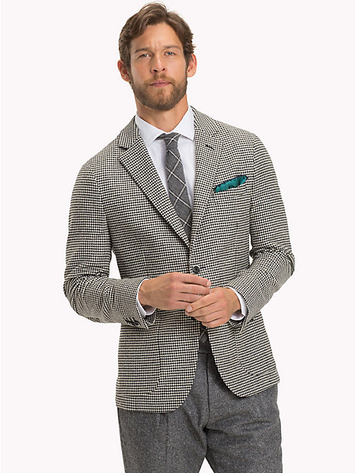 TOMMY HILFIGER Houndstooth Slim Fit Blazer - 101 - TOMMY HILFIGER Suits & Tailored - main image