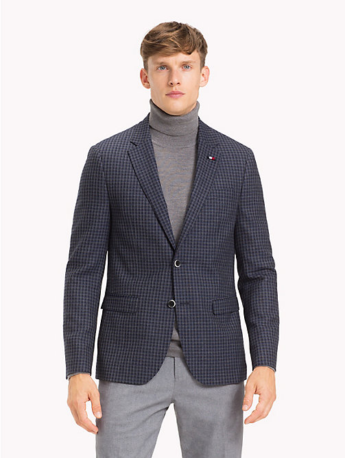TOMMY HILFIGER Check Slim Fit Blazer - 425 - TOMMY HILFIGER Gifts for Him - main image