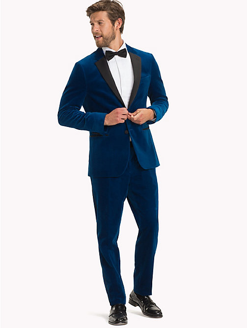 TOMMY HILFIGER Velvet Slim Fit Dinner Jacket - 405 - TOMMY HILFIGER Suits & Tailored - detail image 1