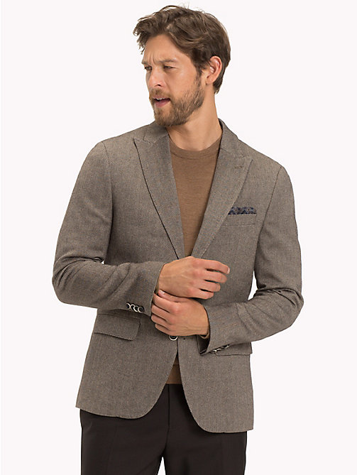 TOMMY HILFIGER Herringbone Regular Fit Blazer - 222 - TOMMY HILFIGER Black Friday Men - main image