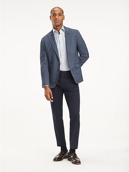 TOMMY HILFIGER Herringbone Regular Fit Blazer - 423 - TOMMY HILFIGER Suits & Tailored - detail image 1