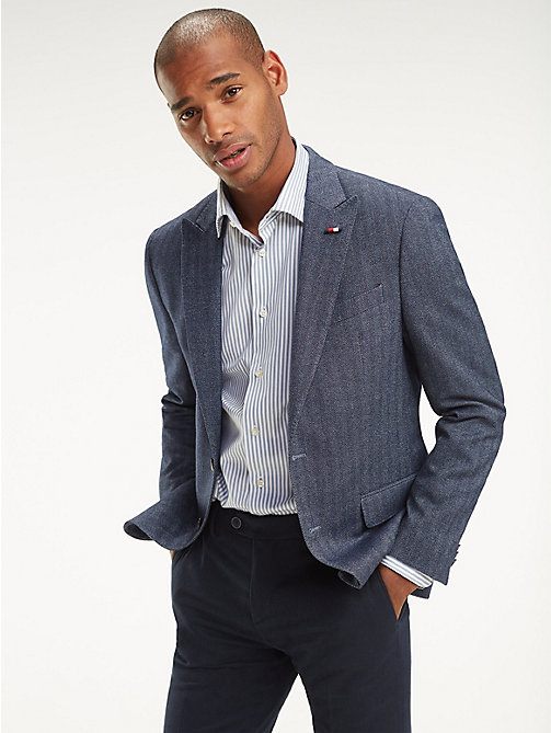 TOMMY HILFIGER Herringbone Regular Fit Blazer - 423 - TOMMY HILFIGER Black Friday Men - main image