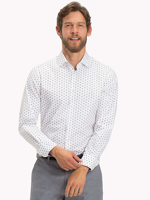 TOMMY HILFIGER Dot Print Slim Fit Shirt - 104 - TOMMY HILFIGER Formal Shirts - detail image 1