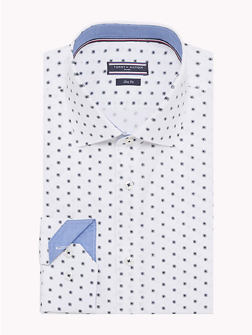 TOMMY HILFIGER Dot Print Slim Fit Shirt - 104 - TOMMY HILFIGER Formal Shirts - main image
