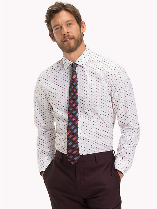 TOMMY HILFIGER Dot Print Slim Fit Shirt - 105 - TOMMY HILFIGER Formal Shirts - detail image 1
