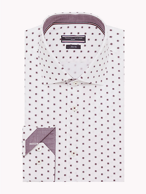 TOMMY HILFIGER Dot Print Slim Fit Shirt - 105 - TOMMY HILFIGER Formal Shirts - main image