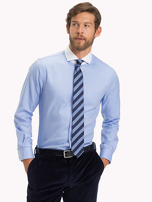 TOMMY HILFIGER Statement Collar Slim Fit Shirt - 415 - TOMMY HILFIGER Formal Shirts - detail image 1