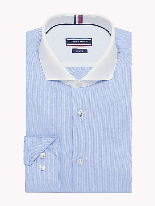 TOMMY HILFIGER Statement Collar Slim Fit Shirt - 415 - TOMMY HILFIGER Formal Shirts - main image