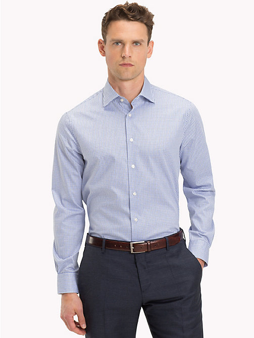 TOMMY HILFIGER Cotton Check Print Shirt - 415 - TOMMY HILFIGER Formal Shirts - detail image 1