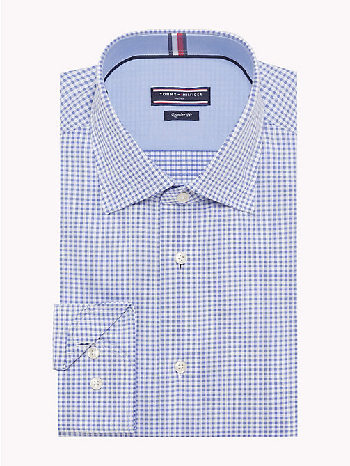 TOMMY HILFIGER Cotton Check Print Shirt - 415 - TOMMY HILFIGER Formal Shirts - main image