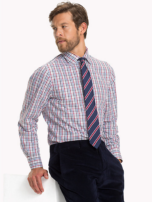 TOMMY HILFIGER TWILL CHECK CLASSIC SHIRT - 600 - TOMMY HILFIGER Formal Shirts - detail image 1
