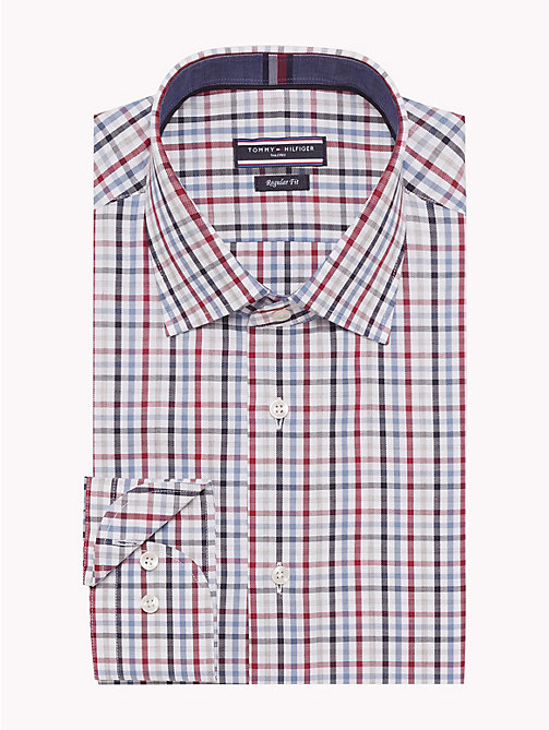 TOMMY HILFIGER TWILL CHECK CLASSIC SHIRT - 600 - TOMMY HILFIGER Formal Shirts - main image