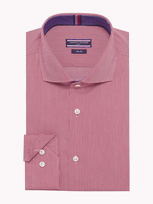 TOMMY HILFIGER Micro Stripe Slim Fit Shirt - 620 - TOMMY HILFIGER Formal Shirts - main image