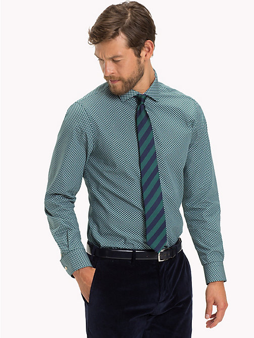 TOMMY HILFIGER Slim Fit Hemd mit Mikroprint - 413 - TOMMY HILFIGER Businesshemden - main image 1