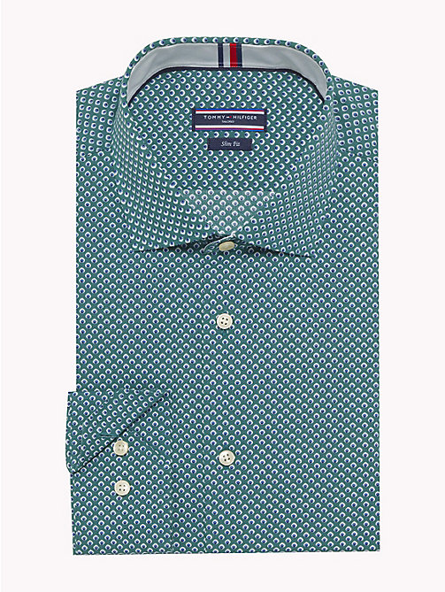 TOMMY HILFIGER Slim Fit Hemd mit Mikroprint - 413 - TOMMY HILFIGER Businesshemden - main image