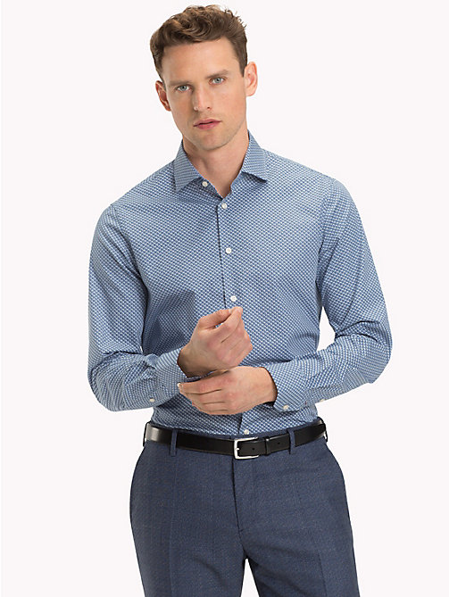 TOMMY HILFIGER Slim Fit Hemd mit Mikroprint - 414 - TOMMY HILFIGER Businesshemden - main image 1