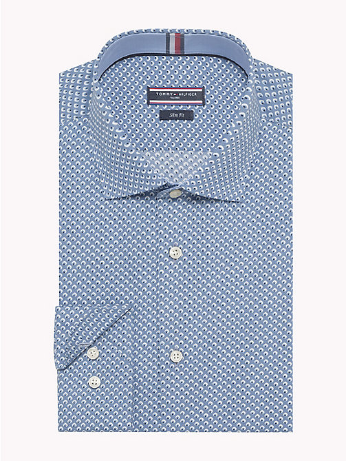 TOMMY HILFIGER Micro Print Slim Fit Shirt - 414 - TOMMY HILFIGER Formal Shirts - main image
