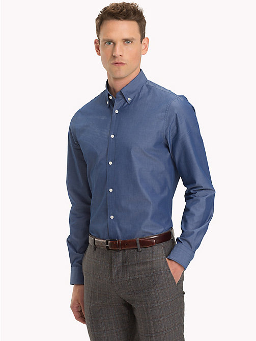 TOMMY HILFIGER Button-Down Slim Fit Shirt - 420 - TOMMY HILFIGER Formal Shirts - detail image 1
