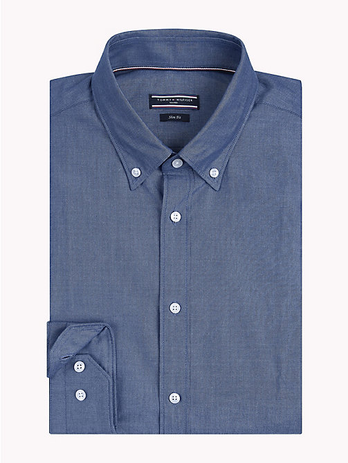 TOMMY HILFIGER Button-Down Slim Fit Shirt - 420 - TOMMY HILFIGER Formal Shirts - main image