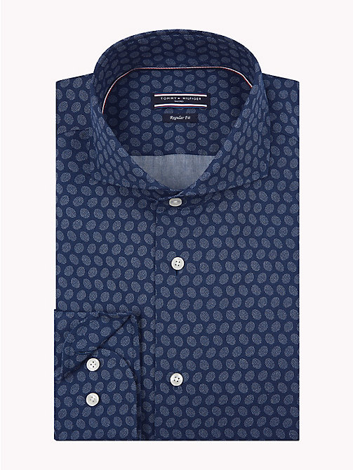 TOMMY HILFIGER Dot Print Shirt - 425 - TOMMY HILFIGER Formal Shirts - main image