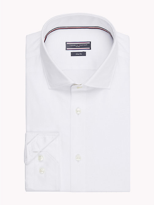 TOMMY HILFIGER Twill Slim Fit Shirt - 100 - TOMMY HILFIGER NEW IN - main image