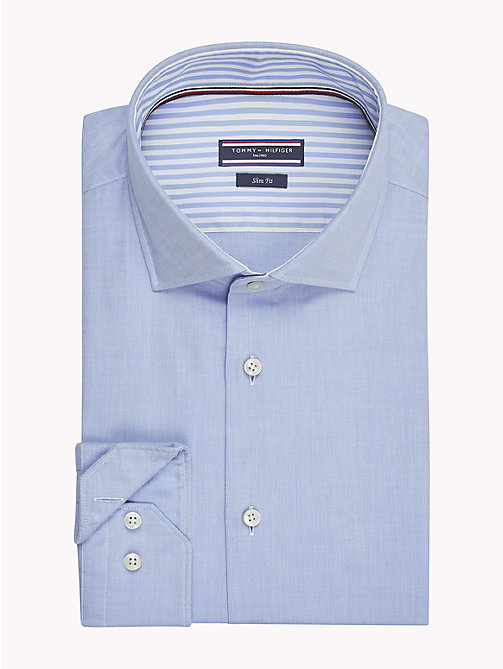 TOMMY HILFIGER Twill Slim Fit Shirt - 410 - TOMMY HILFIGER Formal Shirts - main image