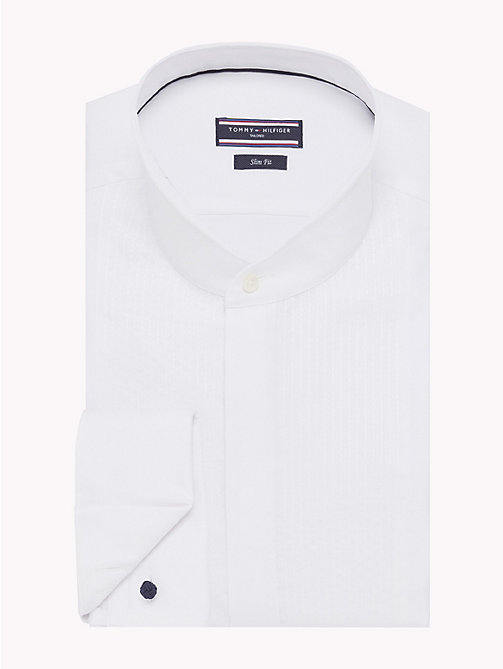 TOMMY HILFIGER Mandarin Collar Slim Fit Shirt - 100 - TOMMY HILFIGER Shirts - main image