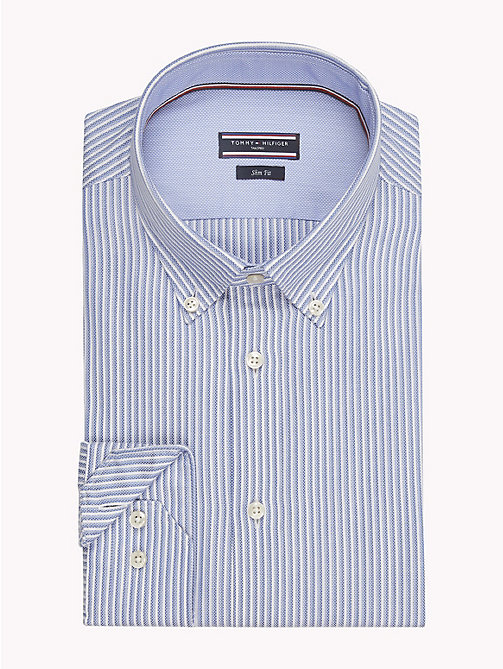 TOMMY HILFIGER Stripe Slim Fit Shirt - 400 - TOMMY HILFIGER Shirts - main image