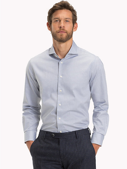 TOMMY HILFIGER Textured Slim Fit Shirt - 020 - TOMMY HILFIGER Formal Shirts - detail image 1