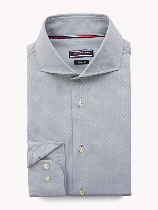 TOMMY HILFIGER Textured Slim Fit Shirt - 020 - TOMMY HILFIGER Formal Shirts - main image