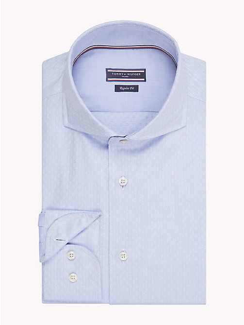 TOMMY HILFIGER Textured Slim Fit Shirt - 410 - TOMMY HILFIGER Formal Shirts - main image