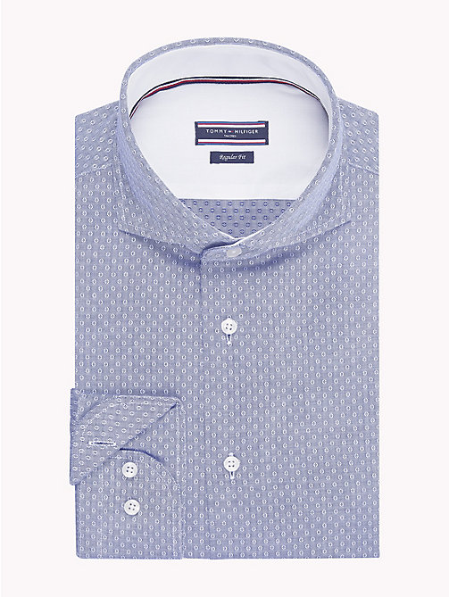 TOMMY HILFIGER Textured Slim Fit Shirt - 420 - TOMMY HILFIGER Formal Shirts - main image