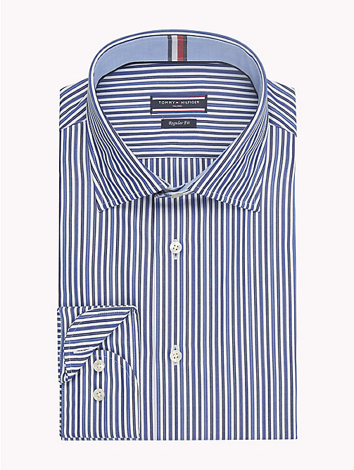 TOMMY HILFIGER Gestreiftes Regular Fit Hemd - 400 - TOMMY HILFIGER Businesshemden - main image