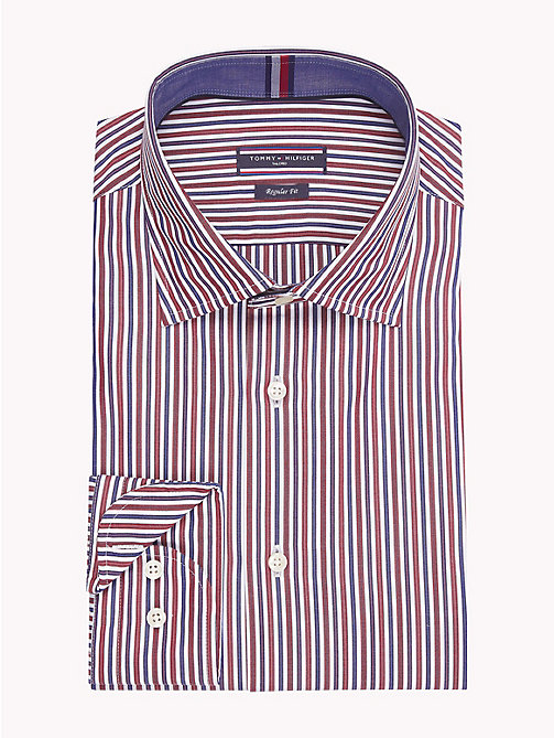 TOMMY HILFIGER Stripe Regular Fit Shirt - 600 - TOMMY HILFIGER Formal Shirts - main image