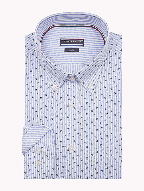 TOMMY HILFIGER Leaf Print Stripe Shirt - 415 - TOMMY HILFIGER Formal Shirts - main image