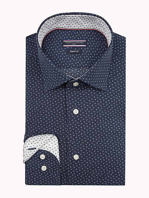 TOMMY HILFIGER Micro Print Classic Shirt - 400 - TOMMY HILFIGER Formal Shirts - main image