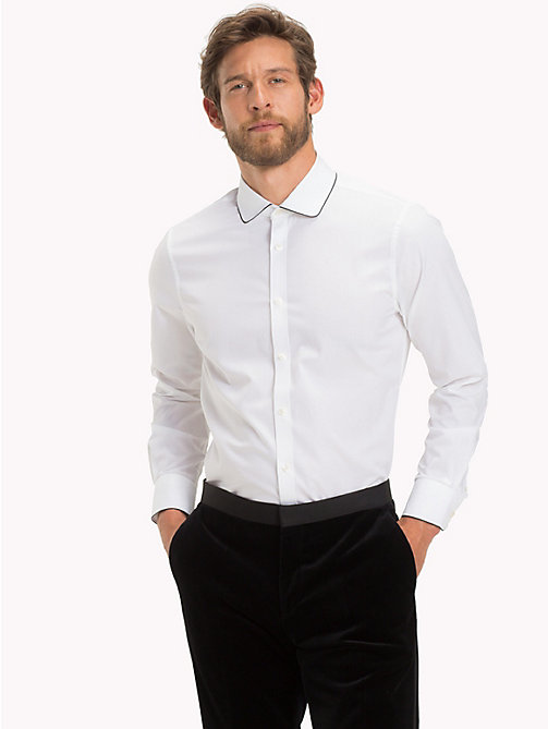 TOMMY HILFIGER Rounded Collar Slim Fit Shirt - 100 - TOMMY HILFIGER Shirts - detail image 1