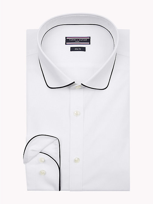 TOMMY HILFIGER Rounded Collar Slim Fit Shirt - 100 - TOMMY HILFIGER Shirts - main image