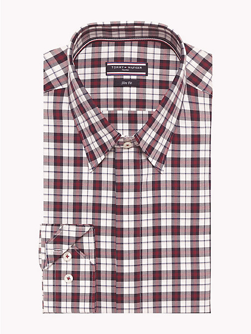 TOMMY HILFIGER Check Slim Fit Shirt - 400 - TOMMY HILFIGER Shirts - main image