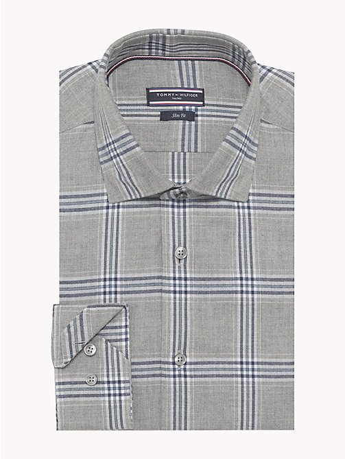 TOMMY HILFIGER Check Slim Fit Shirt - 010 - TOMMY HILFIGER Formal Shirts - main image