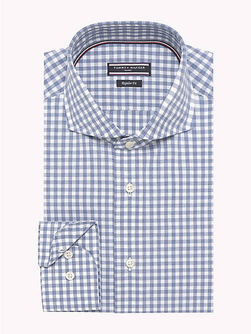 TOMMY HILFIGER Gingham Check Pure Cotton Shirt - 415 - TOMMY HILFIGER Formal Shirts - main image