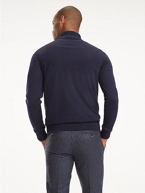 TOMMY HILFIGER Long Sleeve Luxury Wool Polo - NAVY BLAZER - TOMMY HILFIGER Sweatshirts & Knitwear - detail image 1
