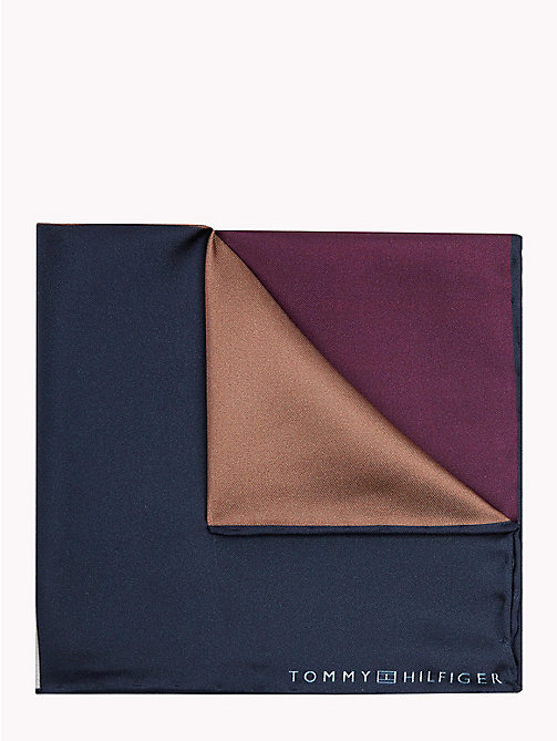 TOMMY HILFIGER Colour Blocked Silk Pocket Square - 500 - TOMMY HILFIGER Ties & Pocket Squares - main image