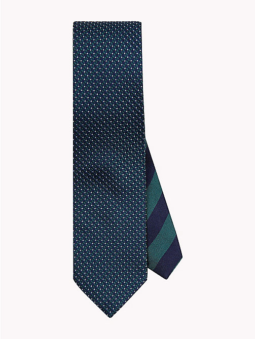 TOMMY HILFIGER Micro Geometric Print Silk Tie - 307 - TOMMY HILFIGER Ties & Pocket Squares - main image