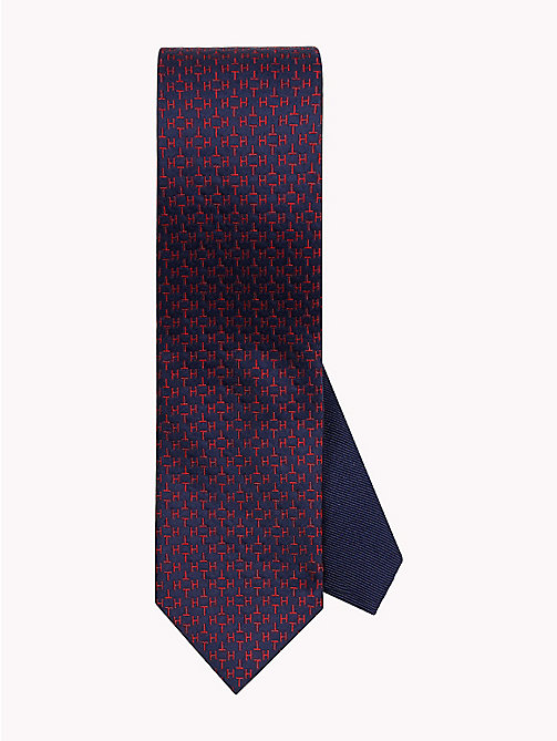 TOMMY HILFIGER Monogram Print Silk Tie - 625 - TOMMY HILFIGER Bags & Accessories - main image