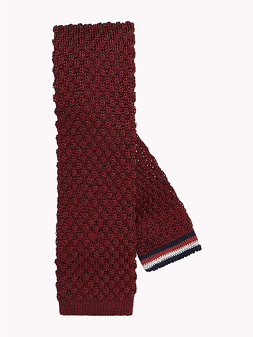 TOMMY HILFIGER Silk Knit Square Tie - 620 - TOMMY HILFIGER Ties & Pocket Squares - main image