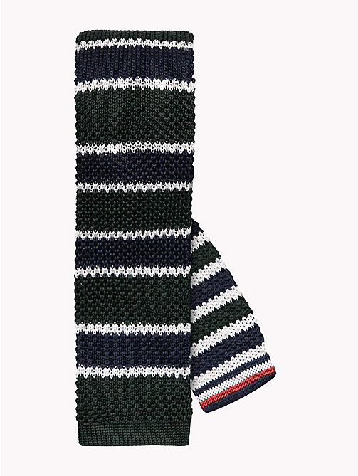TOMMY HILFIGER Knitted Silk Stripe Tie - 309 - TOMMY HILFIGER Ties & Pocket Squares - main image