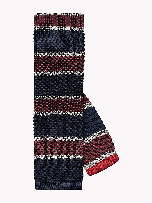 TOMMY HILFIGER Knitted Silk Stripe Tie - 600 - TOMMY HILFIGER Bags & Accessories - main image