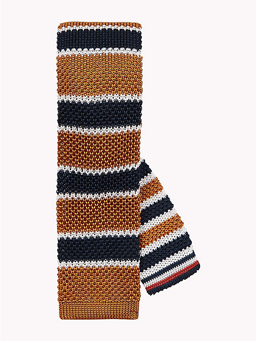 TOMMY HILFIGER Knitted Silk Stripe Tie - 709 - TOMMY HILFIGER Stocking Stuffers - main image